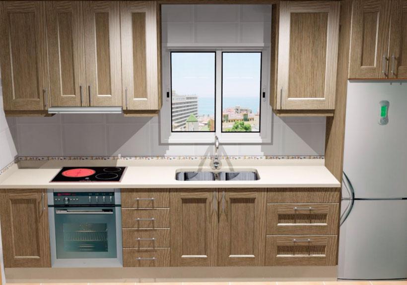 Fabricante de cocinas el rinc n de las cocinas cocinas for Cocinas color madera y blanco